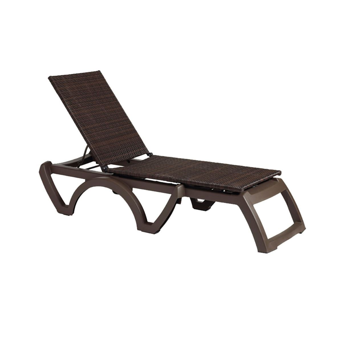 Grosfillex Java Stacking Chaise Resort Chairs