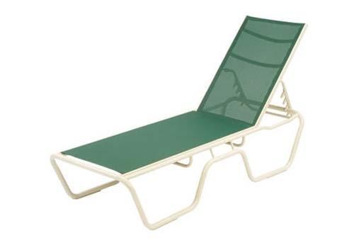 Resort pool chaise lounge