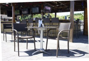 Grosfillex Brand Synthetic Wicker Finish Seating