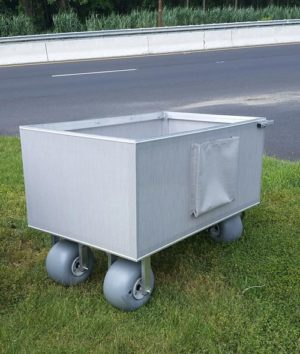 Beach cube cart for a variety of purposes and applications, from towels to umbrellas to small chairs